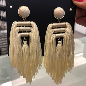 Baublebar ivory tassel statement earrings
